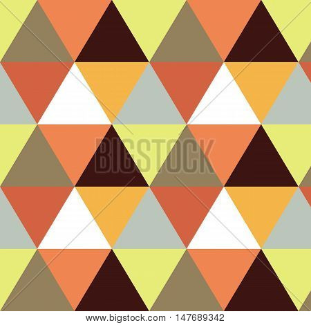 Vector geometric background. Mosaic. Abstract vector Illustration. Rhomb pattern triangle orange texture. Can be used for wallpaper web page background book cover.