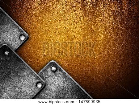 crude iron background