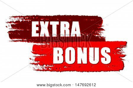 extra bonus - text on red drawn banners, business concept, vector
