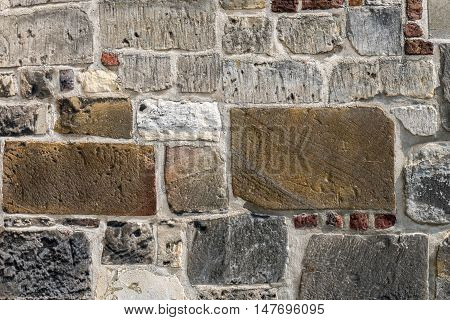 Old wall of the Sint Pancratius church in Heerlen Netherlands.