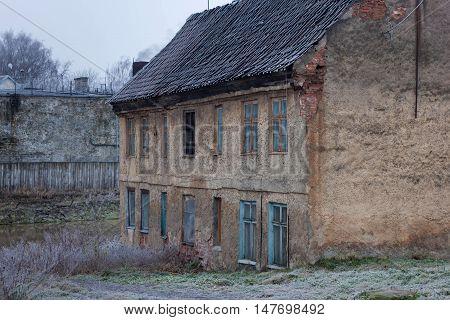 Old german house in the Gvardeysk (Tapiau). Kaliningrad region. Russia.