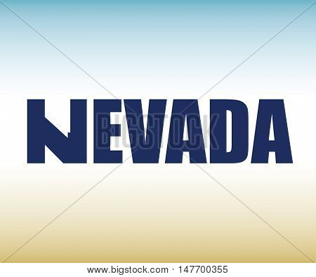 The Nevada shape is within the Nevada name in this state graphic