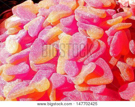 Candy hearts on bazaar in Tel Aviv Israel