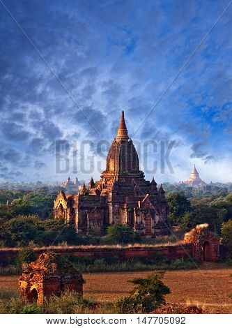 Bagan Archaeological Zone, Myanmar. Bagan's prosperous economy built over 10000 temples between the 11th and 13th centuries