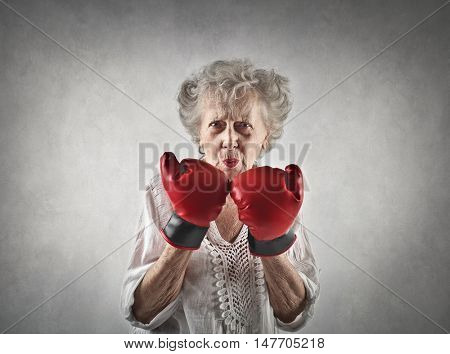 Grandmother is ready to fight