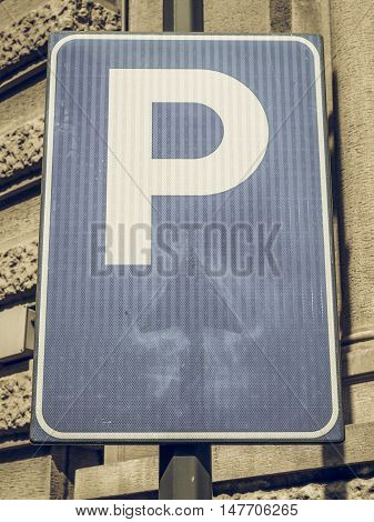 Vintage Looking Parking Sign