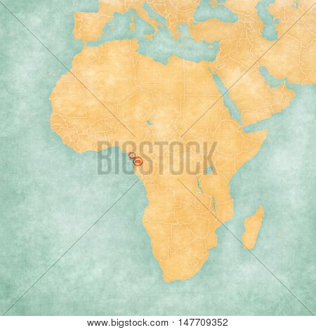 Map Of Africa - Equatorial Guinea
