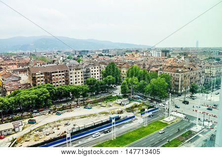 Hdr Aerial View Of Turin