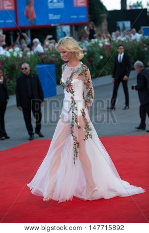 Eva Herzigova  at the premiere of Nocturnal Animals at the 2016 Venice Film Festival. September 2, 2016  Venice, Italy