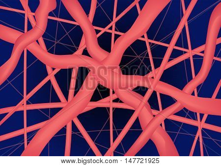 pink close up collagen vector , collagen and elastine.