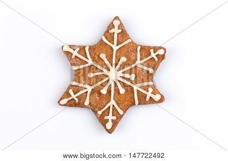 Star Shape Christmas Gingerbread Cookie