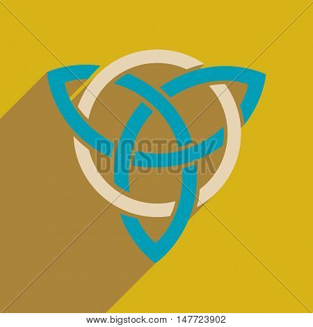 Flat web icon with long  shadow celtic symbol