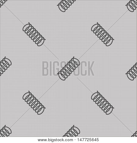 Metal Grey Spring Seamless Pattern on White Background