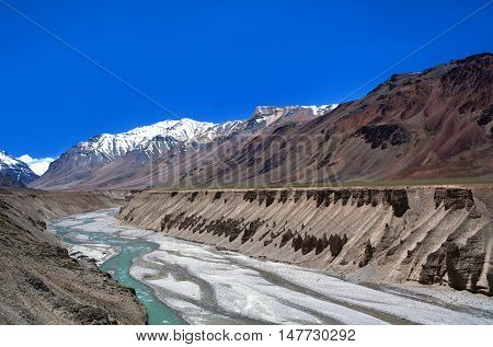 Himalayan Mountain Landscape In Ladakh, India