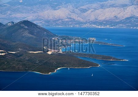 View from the Greek island of Lefkada to the Ionian Sea