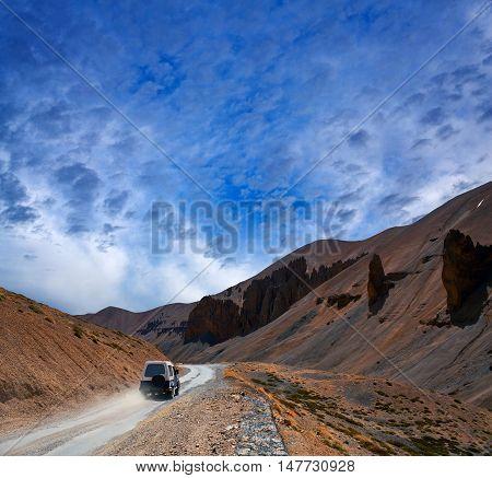 Himalaya Mountain Landscape At The Manali - Leh Highway In Ladakh