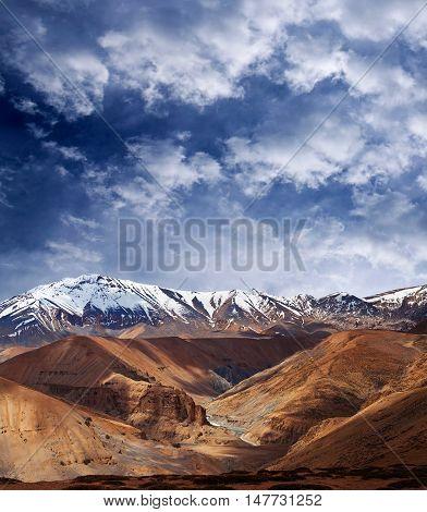 Mountain landscape in Ladakh Jammu and Kashmir State North India