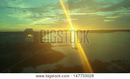 Philadelphia Sun Rise over the Delaware River