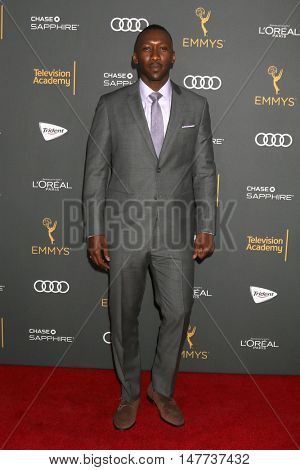 LOS ANGELES - SEP 16:  Mahershala Ali at the TV Academy Performer Nominee Reception at the Pacific Design Center on September 16, 2016 in West Hollywood, CA