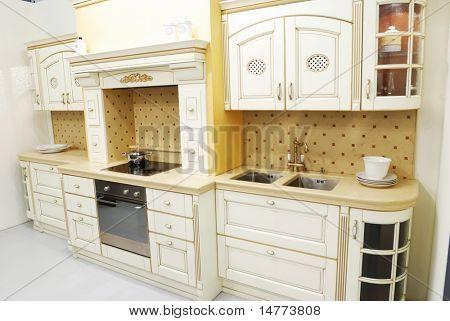 Classic old fashioned kitchen interior