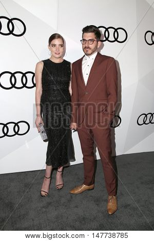 LOS ANGELES - SEP 15:  Elise Eberle, Brian Roedel at the Audi Celebrates The 68th Emmys at the Catch on September 15, 2016 in West Hollywood, CA