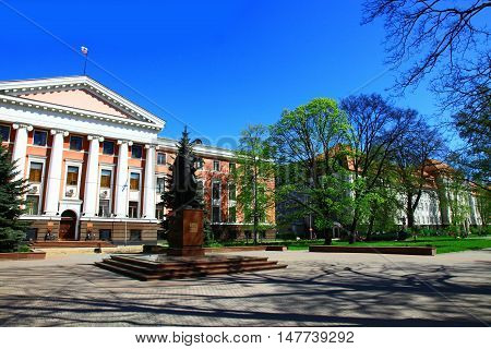 View of the Prospekt Mira Street Kaliningrad. Russia.