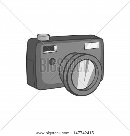 Camera icon in black monochrome style on a white background vector illustration