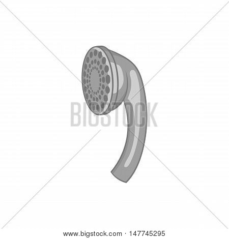 Shower head icon in black monochrome style isolated on white background. Bathing symbol vector illustration