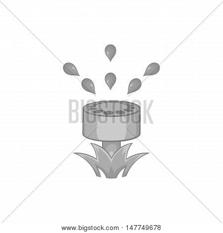 Watering can for garden icon in black monochrome style isolated on white background. Gardening symbol vector illustration