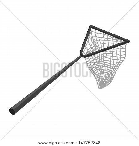 Fishing net icon in black monochrome style isolated on white background vector illustration