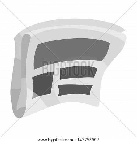 Newspaper advertising icon in black monochrome style isolated on white background vector illustration