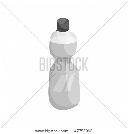 Sports water bottle icon in black monochrome style isolated on white background vector illustration