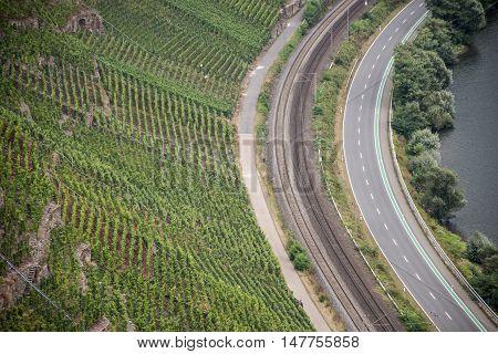 Famous German Wine Region Moselle River in Winningen 8