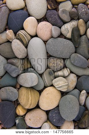 Sea stones background - an ocean background rocks