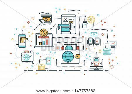 Digital Money Wallet Concept