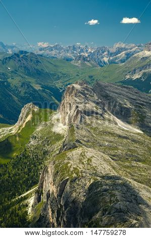 High mountain cliffs in the Dolomites