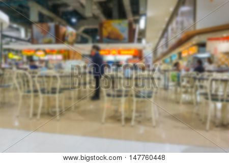 abstract Blurred background . inside food court .