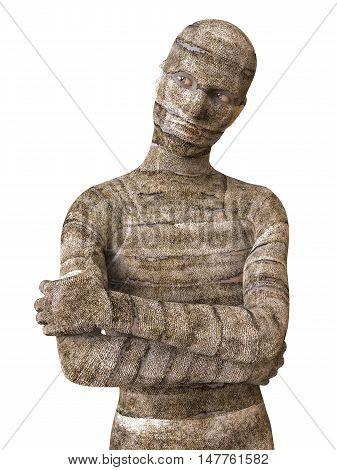 3D Illustration Mummy Isolated on White Background