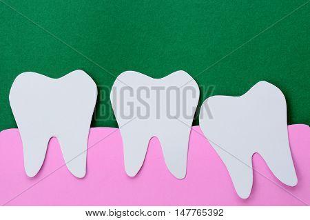 dental shape paper cut - wisdom tooth