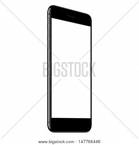vector mock up phone white screen perspective view