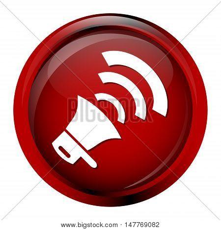 Siren icon emergency sign Sound button icon illustration