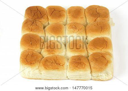 sweet bread rolls on white background for design
