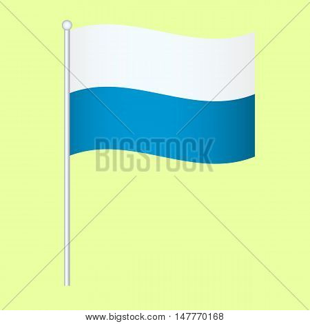 Official national flag of Bavaria. background vector illustration
