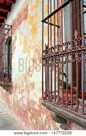 Antigua Guatemala window and wall