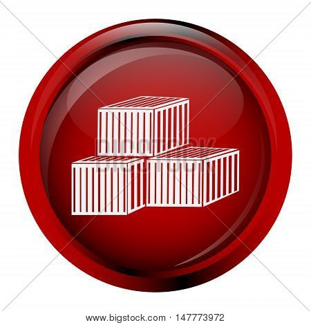Storage crates boxes containers icon vector illustration