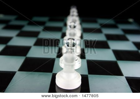 Chess Pieces On A Glass Board - Pawnage