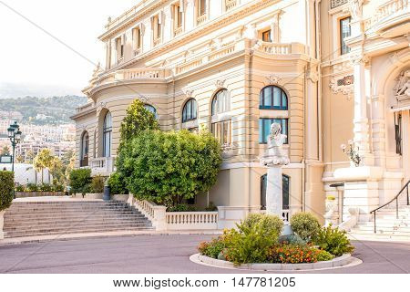 Famous Opera building in Monte Carlo on the French riviera in Monaco