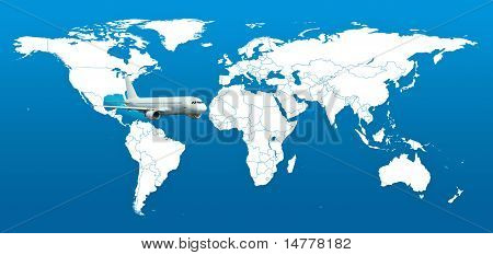 Hi Detail Real World Map With Territorial Countries Fragmentation