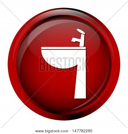 Washing sink icon Toilet sign vector illustration