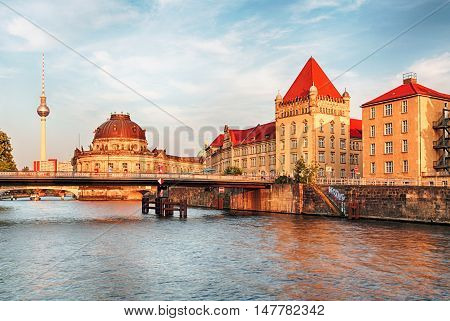 Bode Museum located on Museum Island a UNESCO-designated World Heritage Site on Berlin Germany